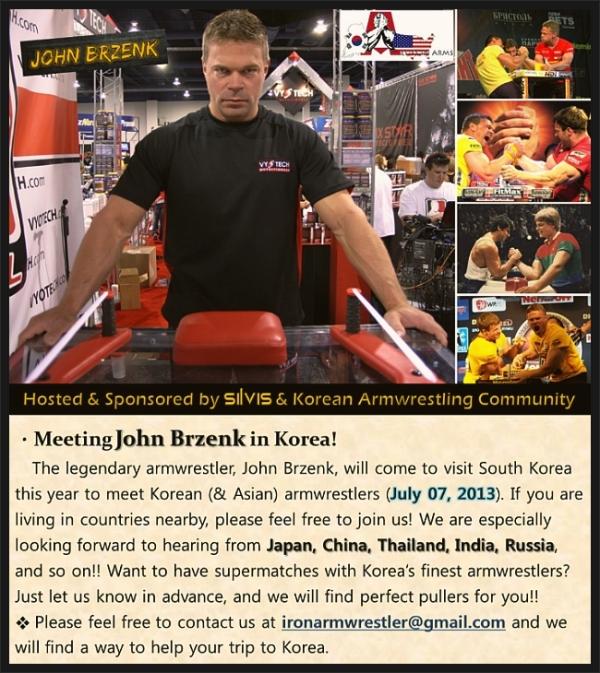 armwrestler John Brzenk come to visit Korea