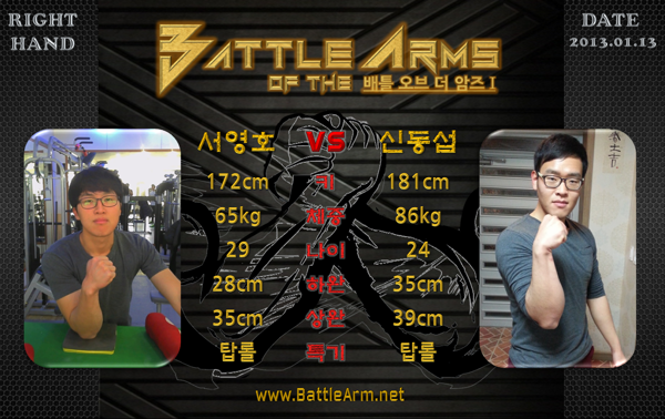battle of the arms armwrestling supermatches in Korea 1-1