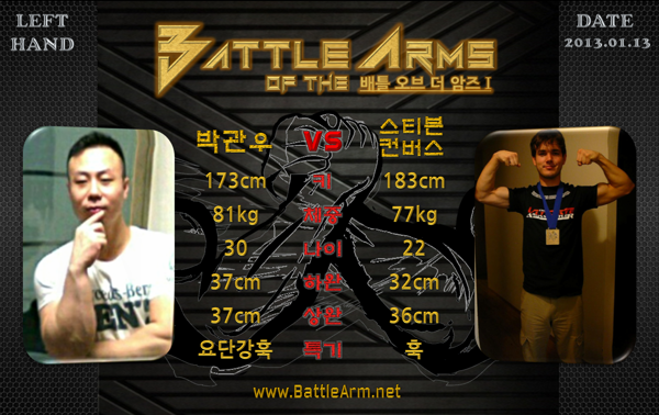 battle of the arms armwrestling supermatches in Korea 1-4