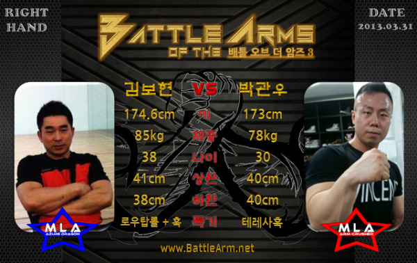 battle of the arms armwrestling supermatches in Korea 3-2