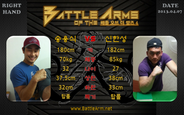 battle of the arms armwrestling supermatches in Korea 4-1