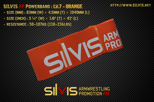 silvis ap powerband level 7 orange