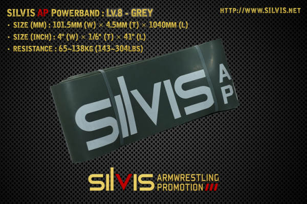 silvis ap powerband level 8 grey