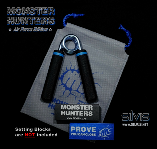 Monster Hunters hand gripper air force edition SILVIS