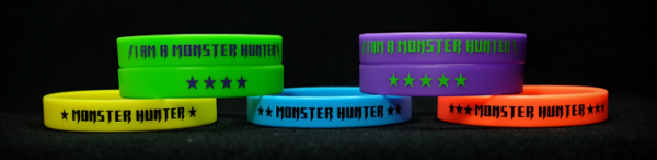 wrist bands for certified monster hunters
